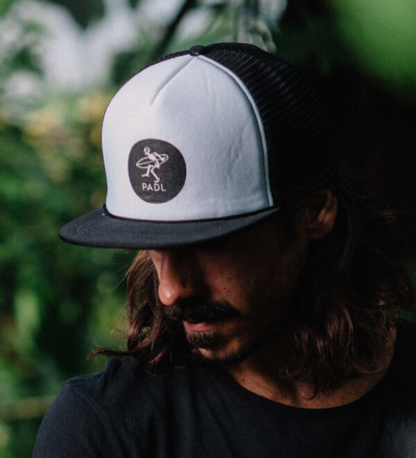 Rocker Baseball Cap white with PADL Logo