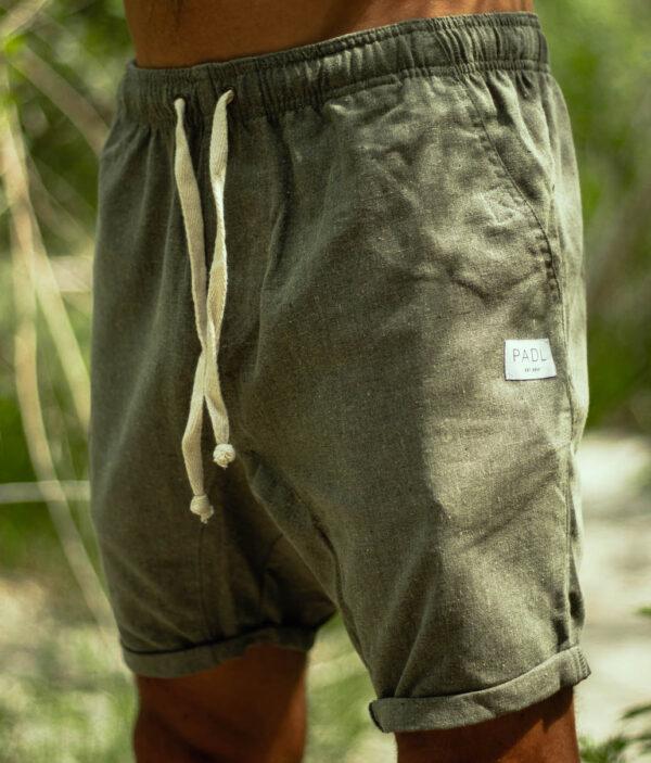 layback linen shorts