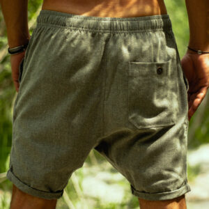 layback linen shorts
