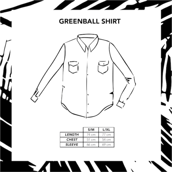Greenball_shirt_sizechart