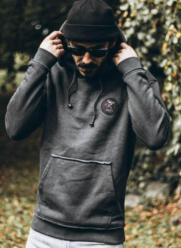 bingin badge hoodie front