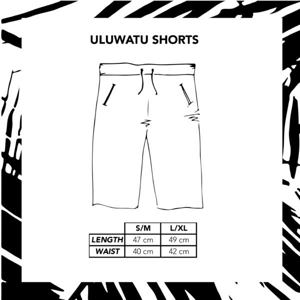 Sizechart Ilustration Uluwatu Shorts