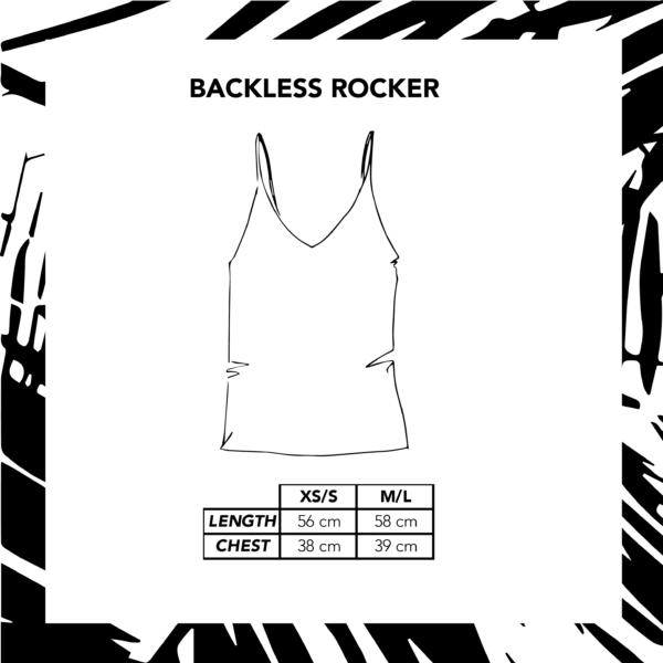 Size Chart Illustration Backless Rocker
