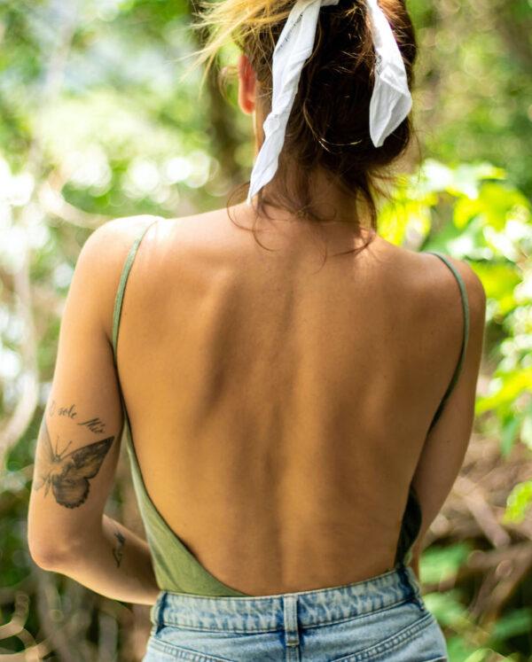 Backless Rocker light green back