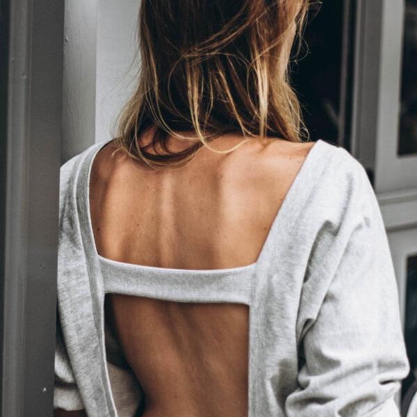 Backless Stripe Sweater back detail