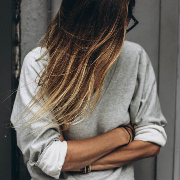 Backless Stripe Sweater front