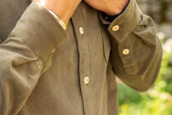 Mr Corduroy Shirt front details