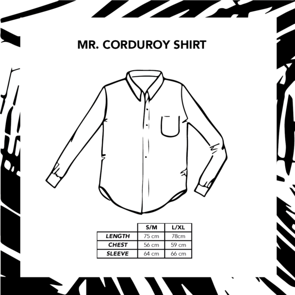 Sizechart Mr. Corduroy Shirt