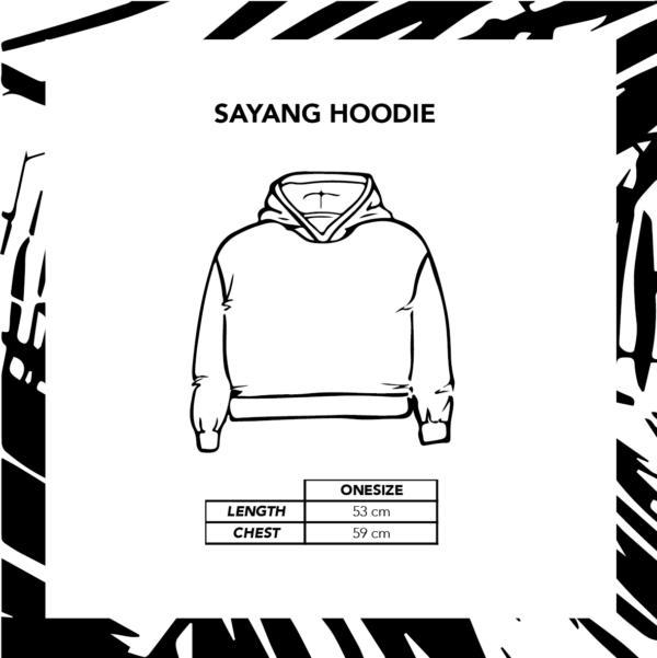 Sizechart Sayang Hoodie Winter Edition